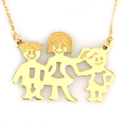 - Aile Altın Kolye (14 Ayar)