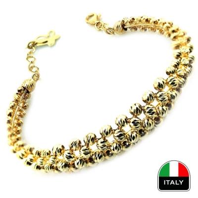kuyumcunuznet - Altın Gösterişli İtalyan Sarı Kelepçe Bilezik (14 Ayar)