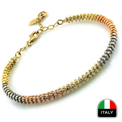 kuyumcunuznet - Altın Gösterişli İtalyan Toplu Kelepçe Bilezik (14 Ayar)
