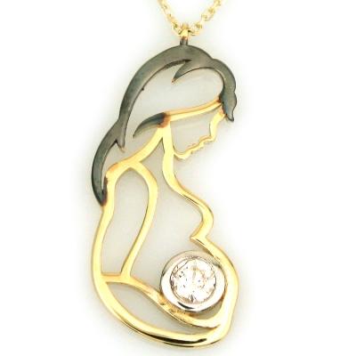 - Altın Hamile Anne Doğum Kolyesi (14 Ayar)