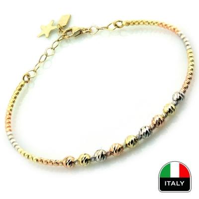 - Altın Hediyelik İtalyan Kelepçe Bilezik (14 Ayar)