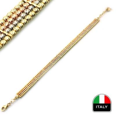 kuyumcunuznet - Altın İtalyan Hasır Bileklik Künye (14 Ayar)