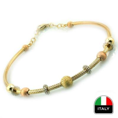 - Altın İtalyan Hediyelik Spor Kelepçe Bilezik (14 Ayar)