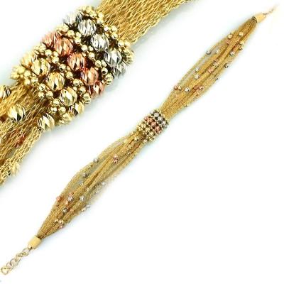 - Altın İtalyan Özel Tasarım Gösterişli Bileklik Künye (14 Ayar)