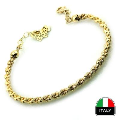 - Altın İtalyan Sarı Altın Kelepçe Bilezik (14 Ayar)