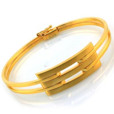 kuyumcunuznet - Altın Kaburga Kelepçe Bilezik (22 Ayar)