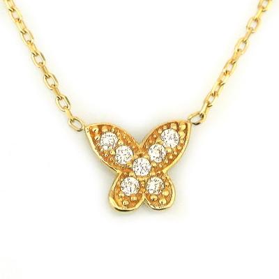 - Altın Kelebek Kolye (14 Ayar)