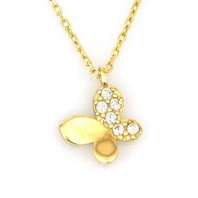 - Altın Küçük Kelebek Kolye (14 Ayar)