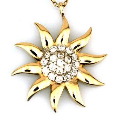 kuyumcunuznet - Altın Orta Boy Güneş Kolye (14 Ayar)