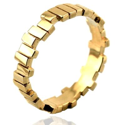 kuyumcunuznet - Altın Tasarım Kareli Alyans Yüzük (14 Ayar)