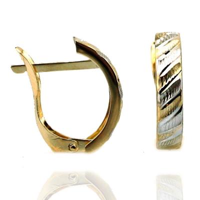 kuyumcunuznet - Altın Taşsız Lazerli Uzun Küpe (14 Ayar)