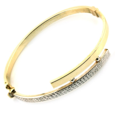 kuyumcunuznet - Arpaş Marka Modern Altın Taşsız Kelepçe Bilezik (8 Ayar)