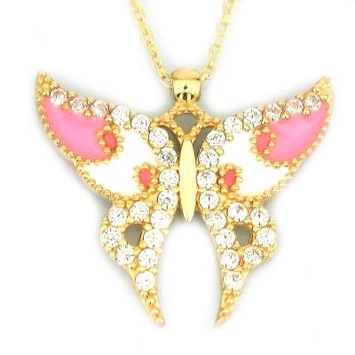 - Büyük Kelebek Kolye (14 Ayar)