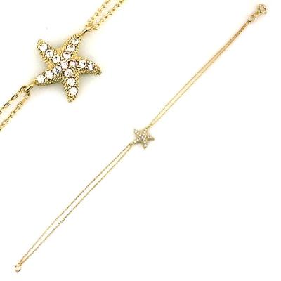 kuyumcunuznet - Deniz Yıldızı Altın Bileklik Künye (8 Ayar)