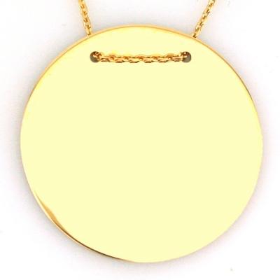 kuyumcunuznet - Düz Plaka Altın Kolye (14 Ayar)