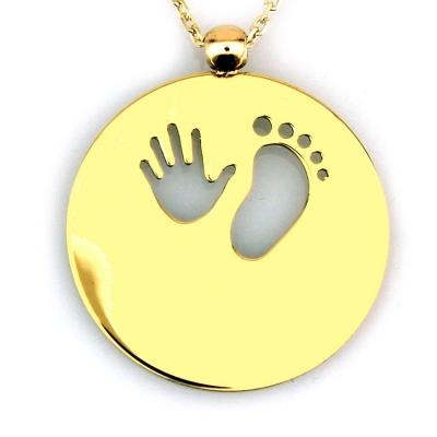 kuyumcunuznet - El Ayak Doğum Altın Kolye (8 Ayar)