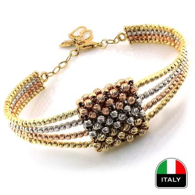 kuyumcunuznet - El İşi İtalyan Altın Kelepçe Bilezik (14 Ayar)