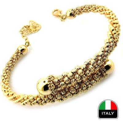 - Gösterişli Modern İtalyan Altın Kelepçe Bilezik (14 Ayar)