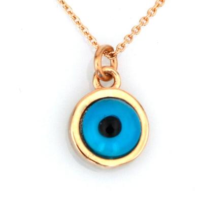 kuyumcunuznet - Hediyelik Altın Göz Kolye (14 Ayar)