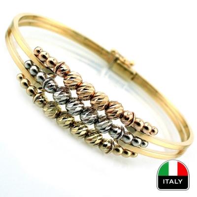 - İtalyan Kaburga Altın Bilezik Kelepçe (14 Ayar)