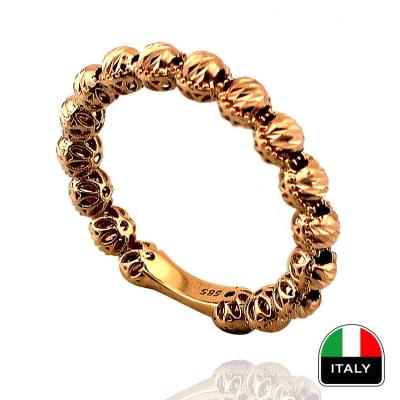 kuyumcunuznet - İtalyan Taşsız Dorikalı Altın Alyans (14 Ayar)