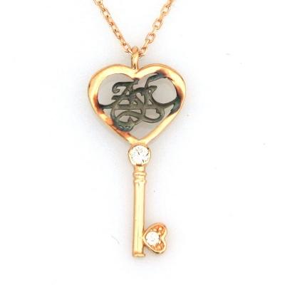- Kalbimin Anahtarı Altın Aşk Kolyesi (14 Ayar)