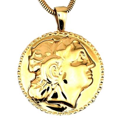 kuyumcunuznet - Kalın Zincirli Altın Büyük İskender Kolye (14 Ayar)