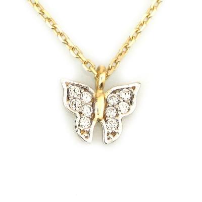 - Küçük Altın Kelebek Kolye (8 Ayar)