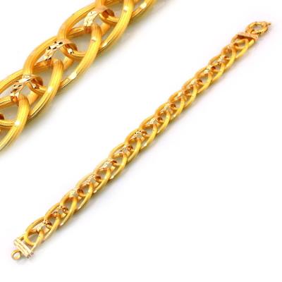 kuyumcunuznet - Lazerli Taşsız Gösterişli Altın Bileklik Künye (22 Ayar)