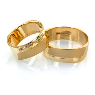 kuyumcunuznet - Modern Hafif Çift Altın Alyans (14 Ayar)