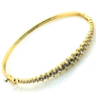 - Pırlanta Modeli Altın Kelepçe Bilezik (14 Ayar)