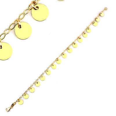 kuyumcunuznet - Pullu Plaka Altın Künye Bileklik (14 Ayar)