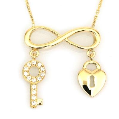 kuyumcunuznet - Sonsuzluk Kalbimin Anahtarı Altın Kolye (14 Ayar)