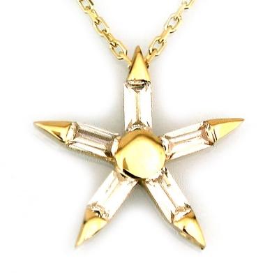 - Tasarım Yıldız Altın Kolye (14 Ayar)