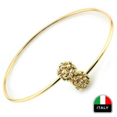- Taşsız İtalyan Tasarım Altın Kelepçe Bilezik (14 Ayar)