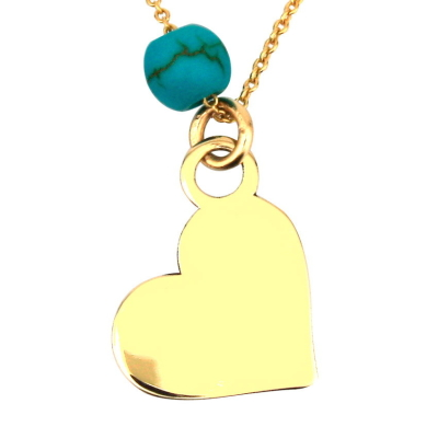 kuyumcunuznet - Taşsız Kalp Altın Kolye (14 Ayar)