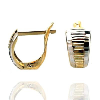 kuyumcunuznet - Taşsız Lazerli Altın Küpe (14 Ayar)