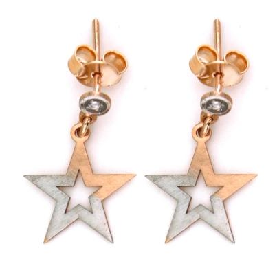 kuyumcunuznet - Zarif Altın Yıldız Küpe (14 Ayar)