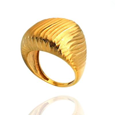 kuyumcunuznet - 22 Ayar Taşsız Gösterişli Modern Altın Yüzük
