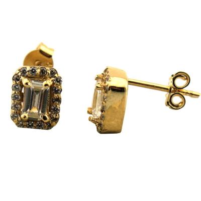 Altın Baget Taşlı Mini Takı Seti (14 Ayar)