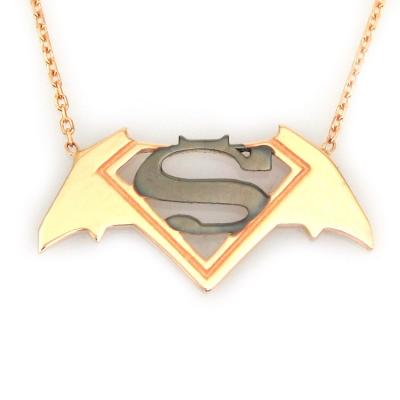 kuyumcunuznet - Altın Batman Superman Kolye (14 Ayar)
