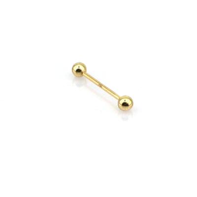 kuyumcunuznet - Altın Düz Dil Piercing (14 Ayar)