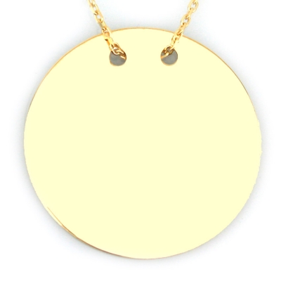 kuyumcunuznet - Altın Düz Orta Boy Plaka Kolye (14 Ayar)