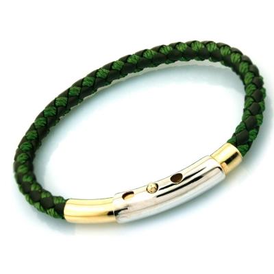 kuyumcunuznet - Altın Erkek Bileklik Kelepçe (14 Ayar) Yeşil