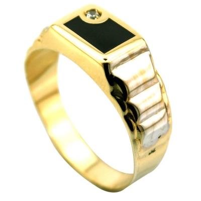 kuyumcunuznet - Altın Erkek Yüzüğü Günlük (14 Ayar)