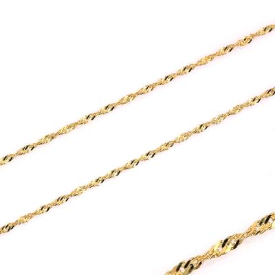 kuyumcunuznet - Altın Fırfır Zincir Kolye (14 Ayar)