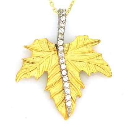 kuyumcunuznet - Altın Gösterişli Çınar Yaprağı (14 Ayar)