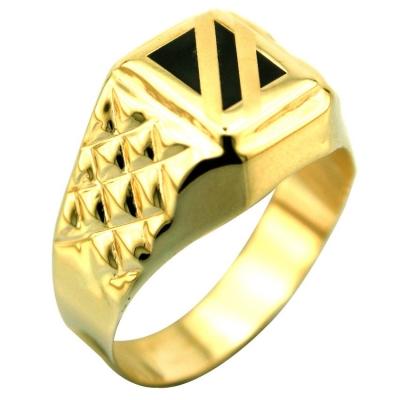 kuyumcunuznet - Altın Gösterişli Erkek Şovalye Yüzüğü (14 Ayar)