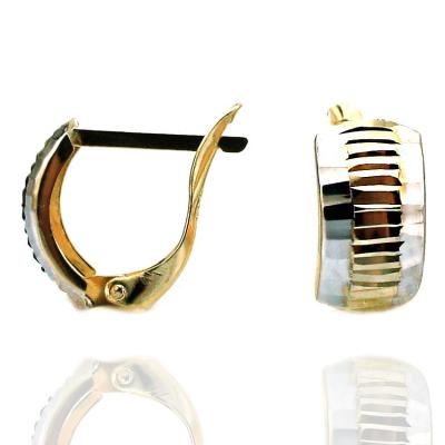 kuyumcunuznet - Altın Gösterişli Taşsız Küpe (14 Ayar)