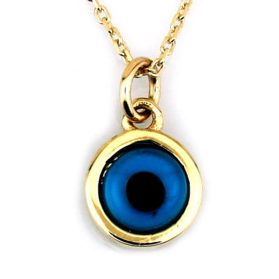 kuyumcunuznet - Altın Göz Boncuk Kolye (8 Ayar)